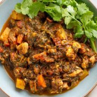 Moroccan Chicken Stew With Spinach & Sun-Dried Tomatoes