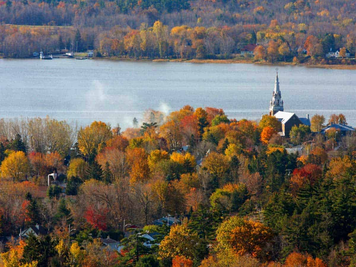 The fall foliage in Oka is second to none in Quebec and is easily accessible on a fall foliage road trip..