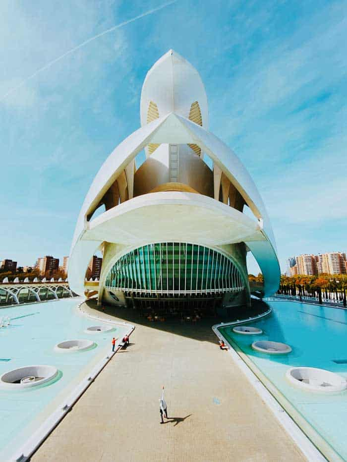 Stunning ship shaped out of space styled Hemisfèric, Valencia.
