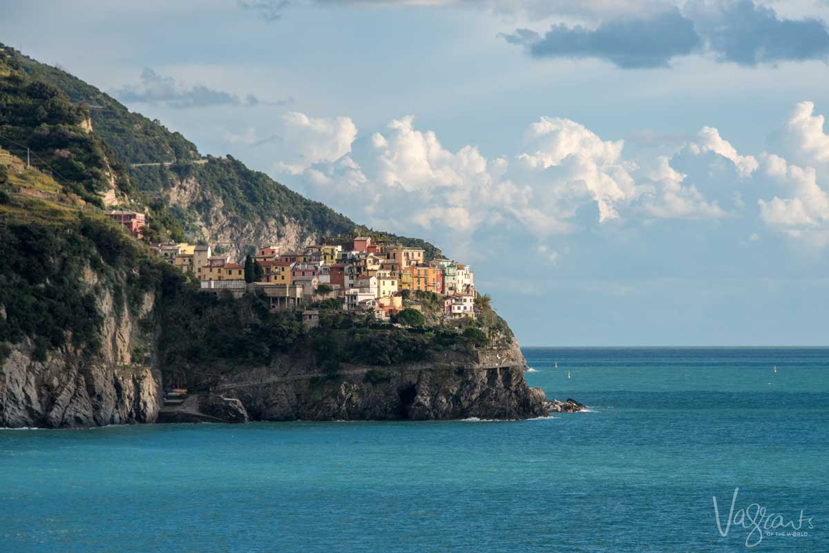 Cinque Terra, a wonderful sight as its villages sit out on the rocky headlands over the sea.