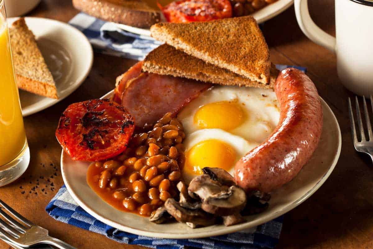Full english fry up breakfast.