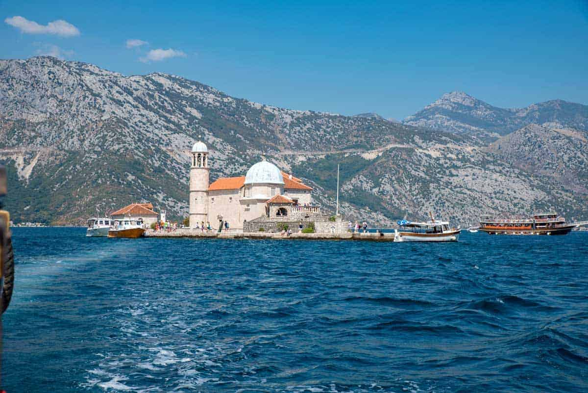 Our Lady of the Rocks island and church Montenegro.