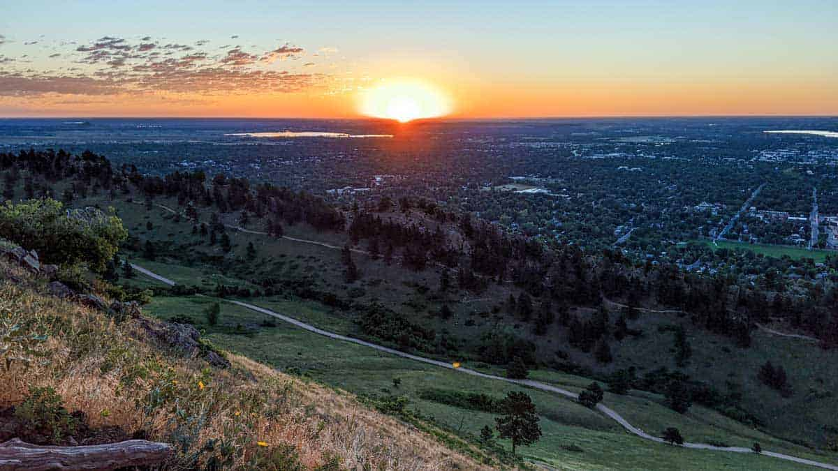 Scenic vistas from Mount Sanitas.