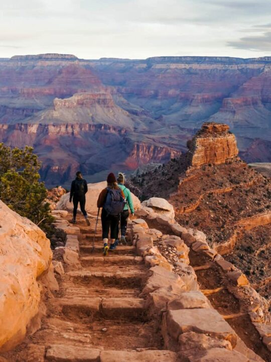Hikers in the Grand Canyon.