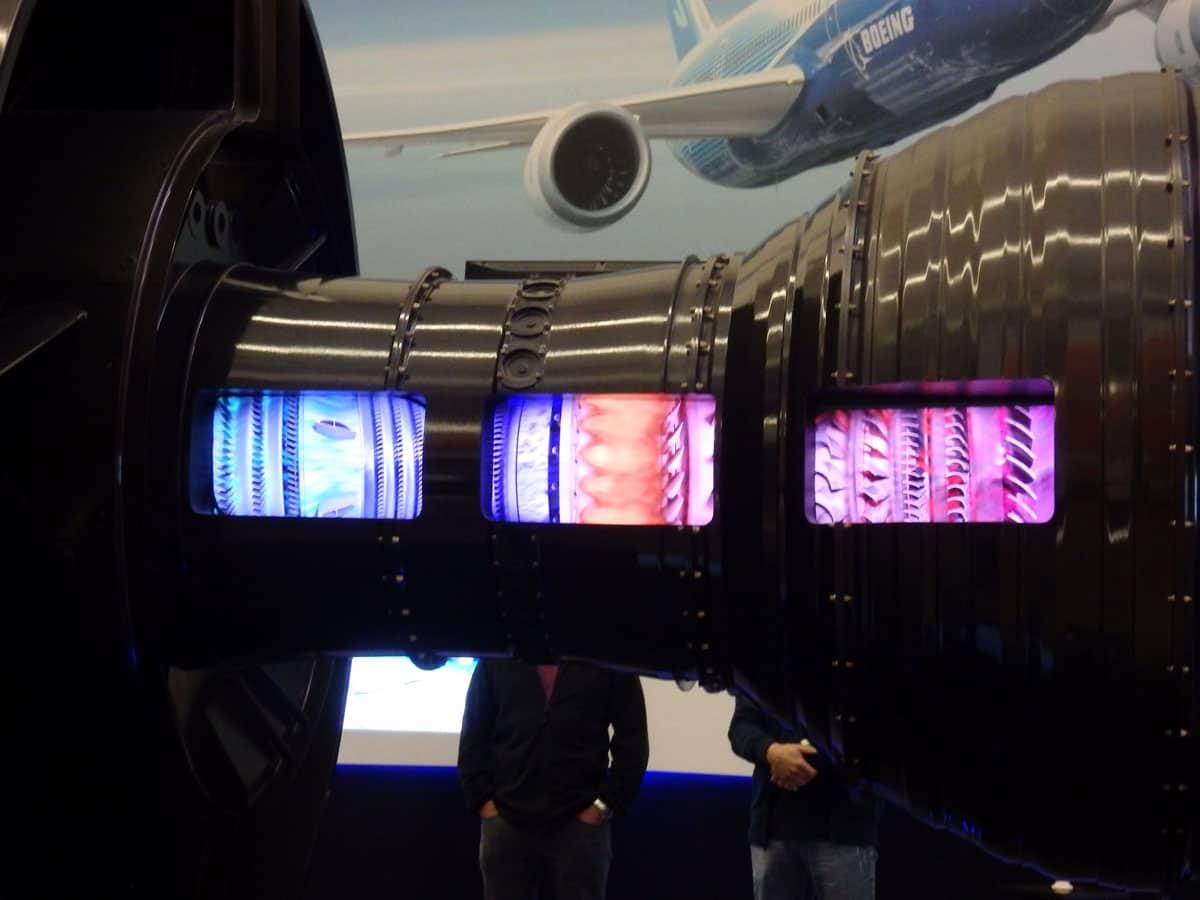 Display at the Future of Flight Centre Washington.