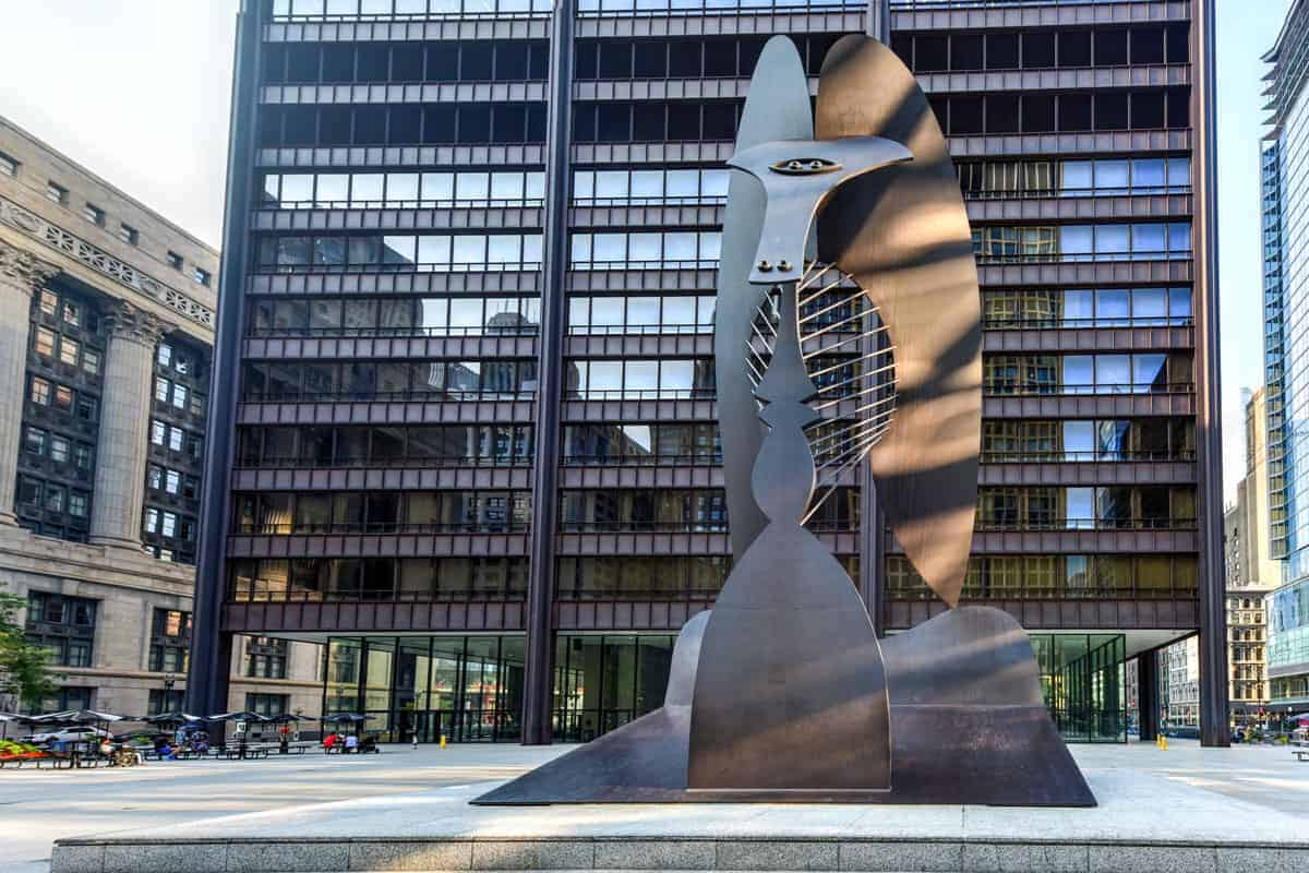 Picasso sculpture in Chicago City.