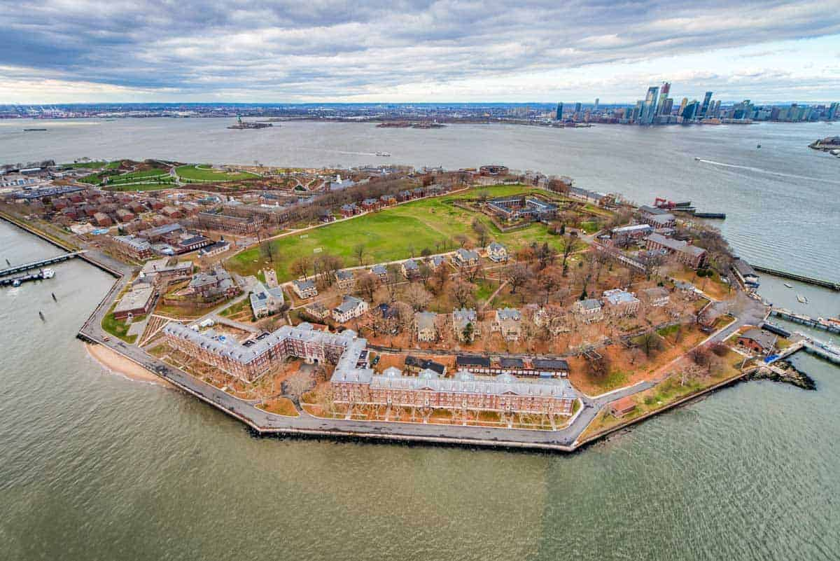 Aerial view of Governors Island New Jersey.