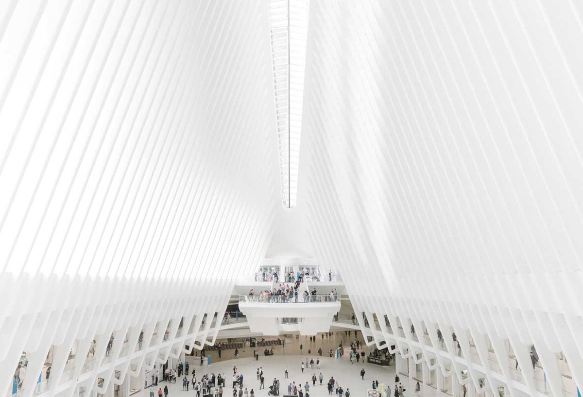 Stunning architecture of the Oculus building in New York.