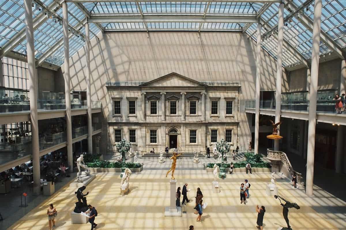 The atrium inside the MET museum New York.