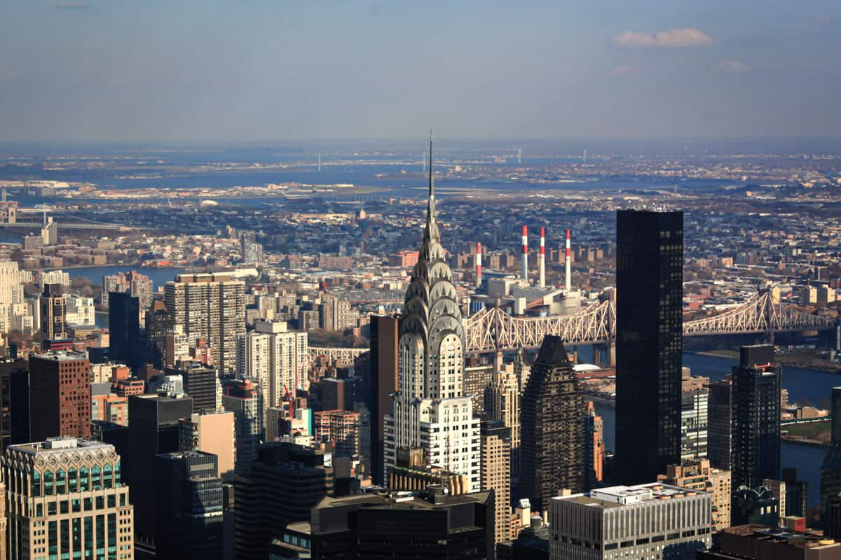 Views of the Chrysler Building from the Empire State Building.