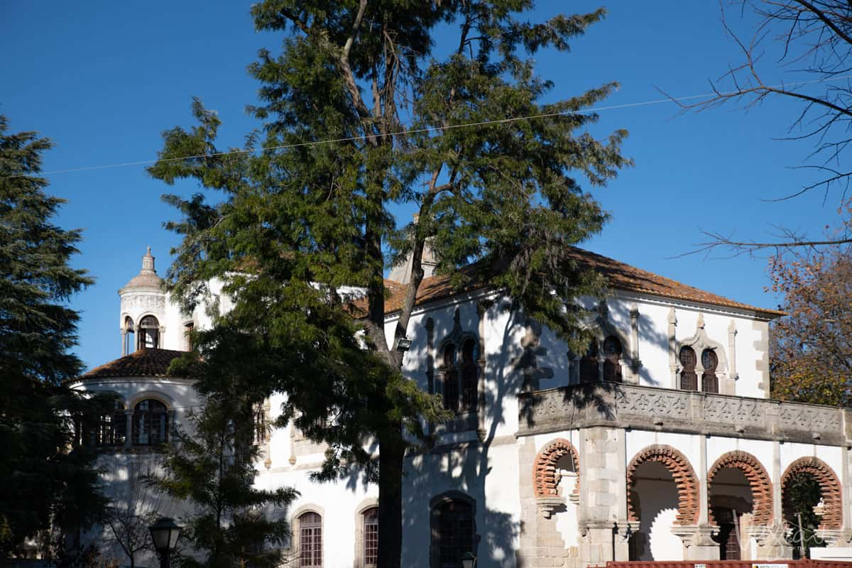 The the 16th century D. Manuel Palace in the public park in Evora.