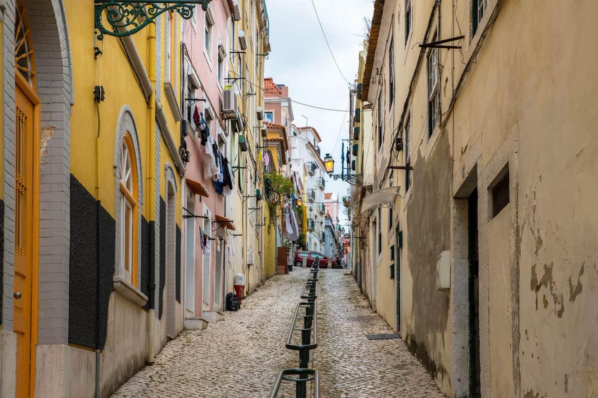 Pretty narrow streets of Lisbon.