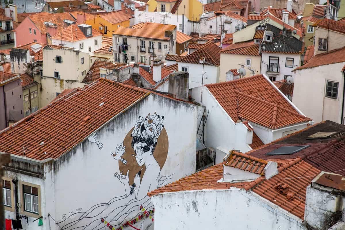 Street art in Lisbon.