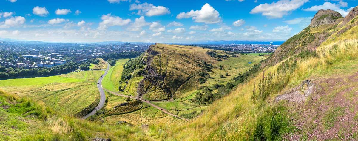 Views over Edinburgh from Arthur's Seat.