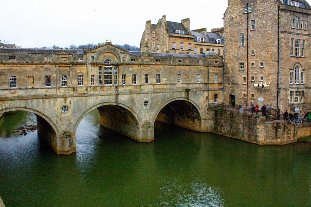 The Pultney Bridge in Bath.