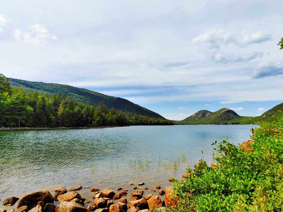 Views over jordan Pond in Acadia NP.
