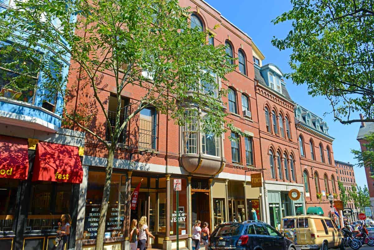 Downtown Portland Maine.
