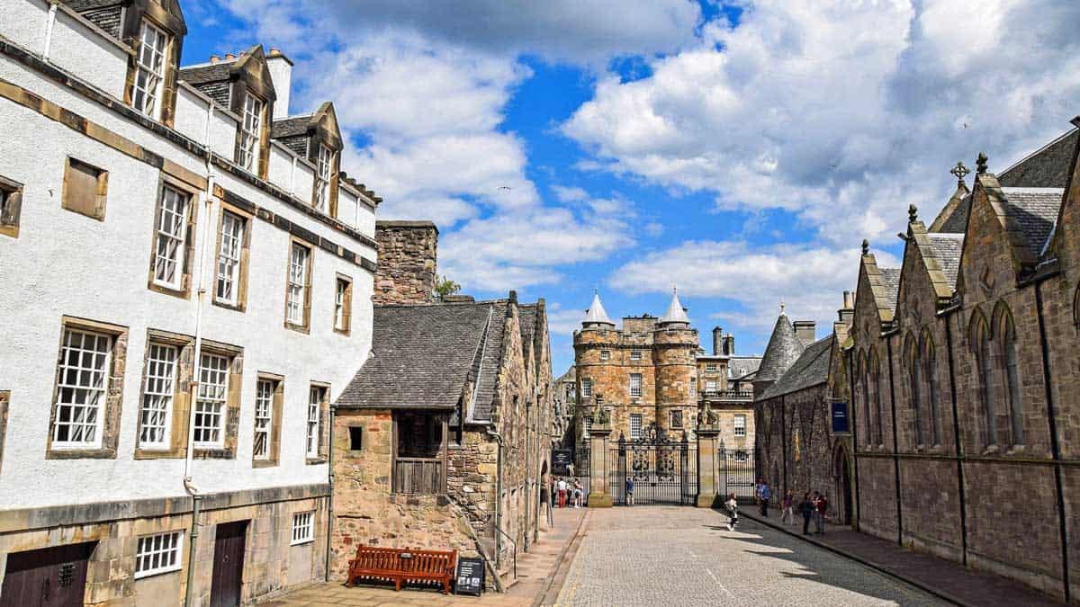 Holyrood Palace in Edinburgh Scotland.