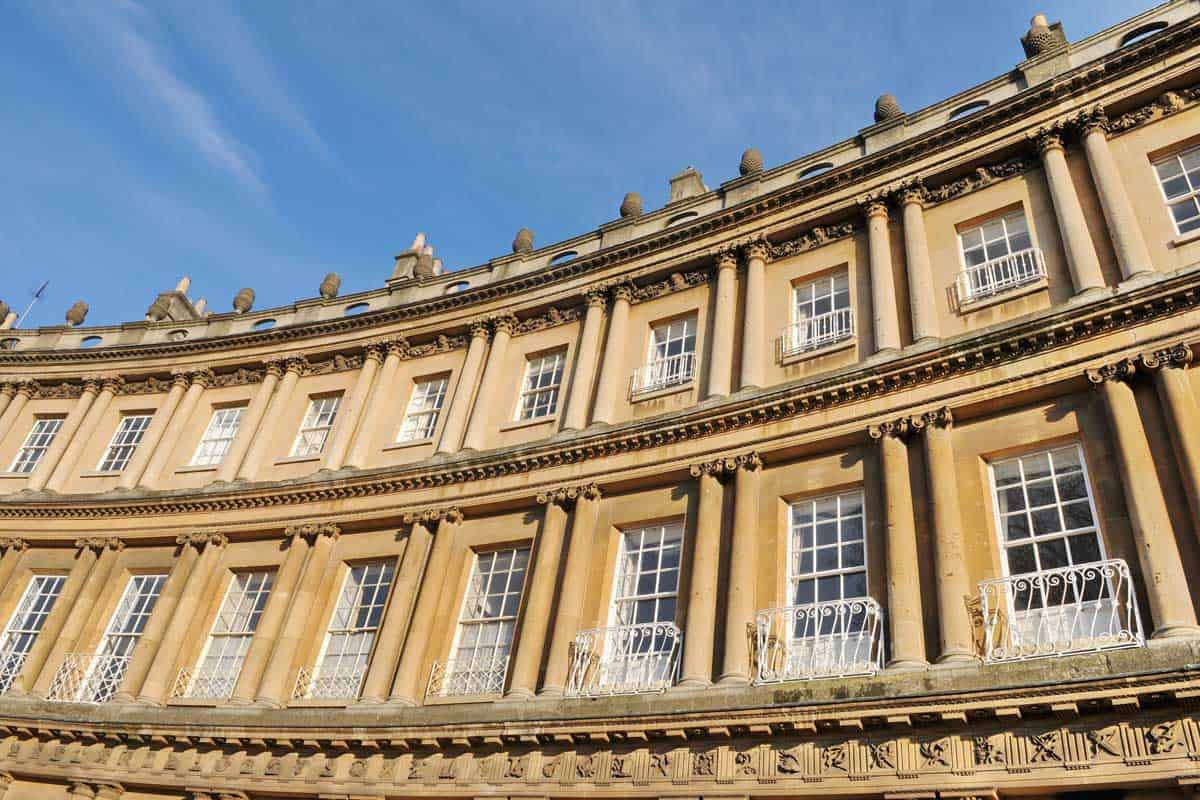 The Circus building in Bath England.
