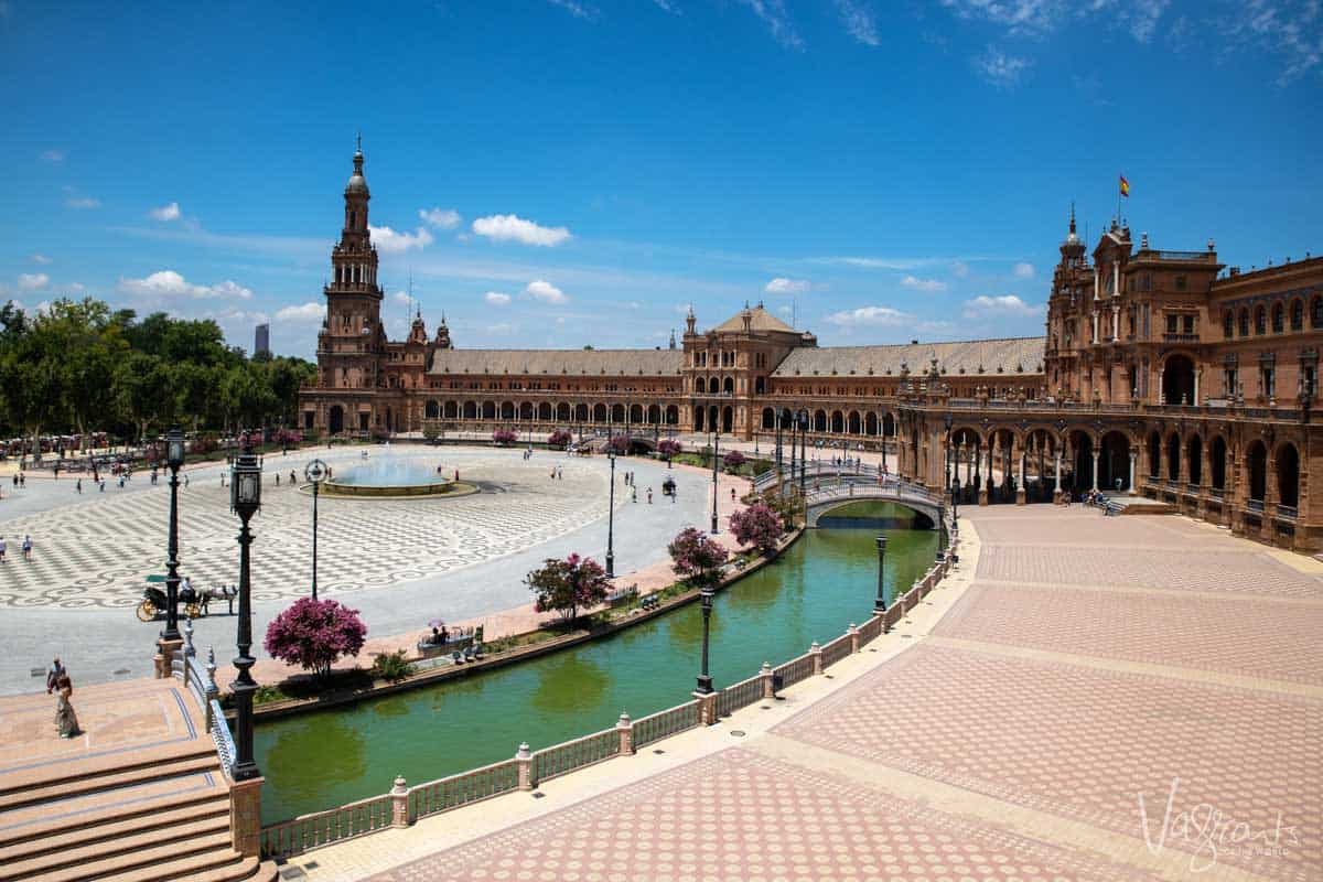 Plaza Espanha in Seville Spain.