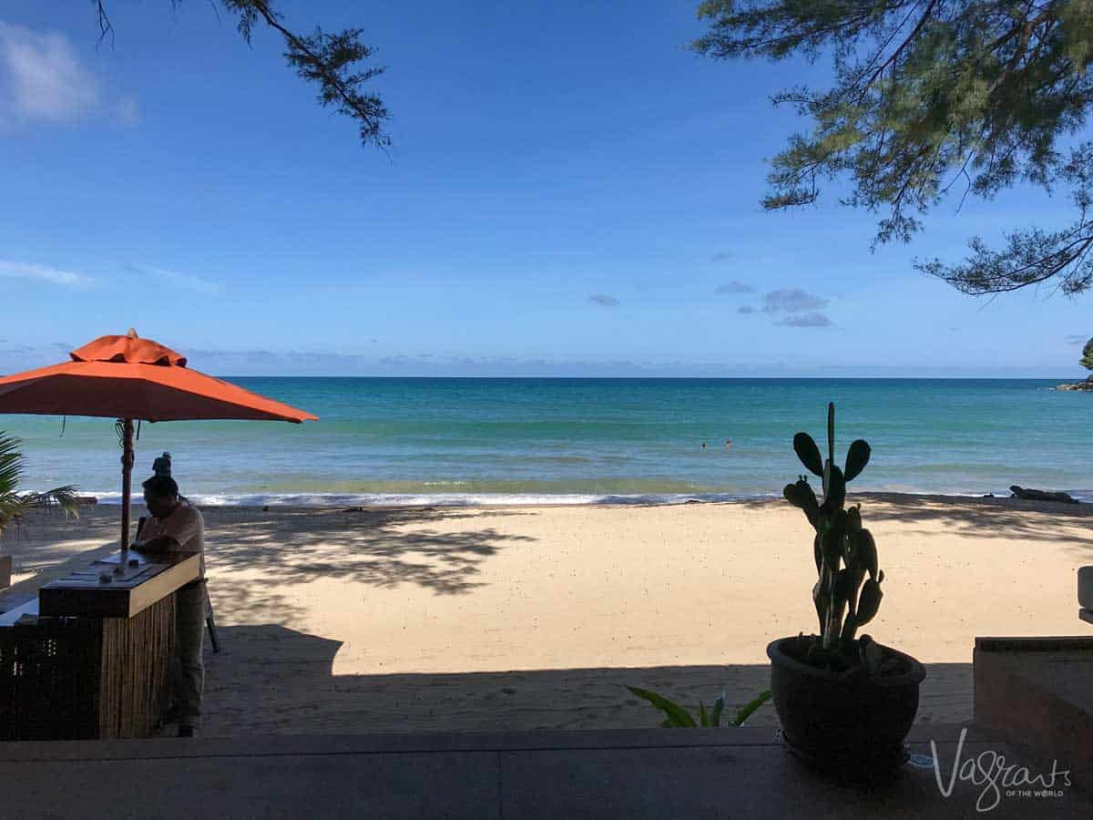 Looking out over the beach in Phuket Thailand.