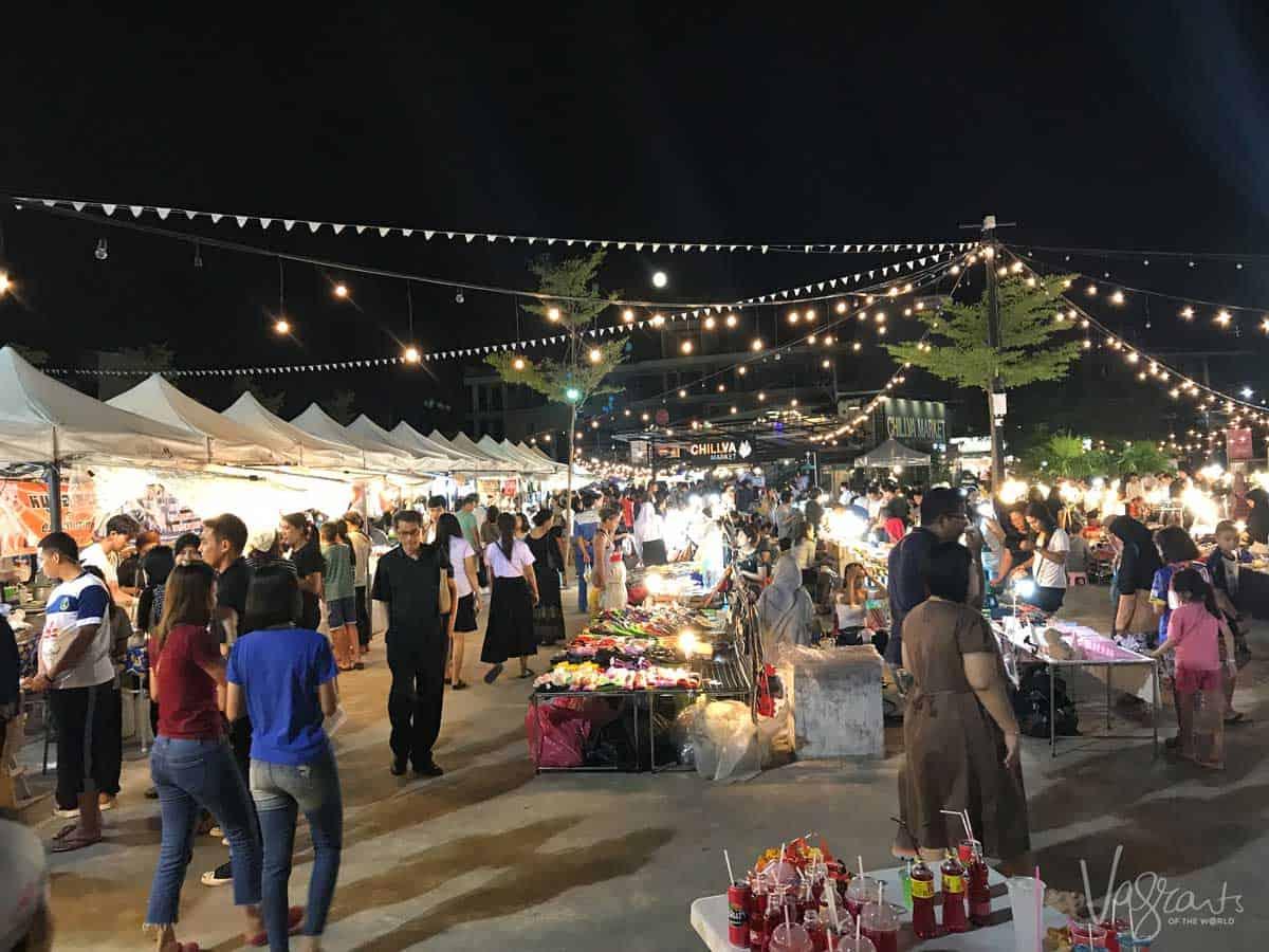 Night market in Phuket Thailand.