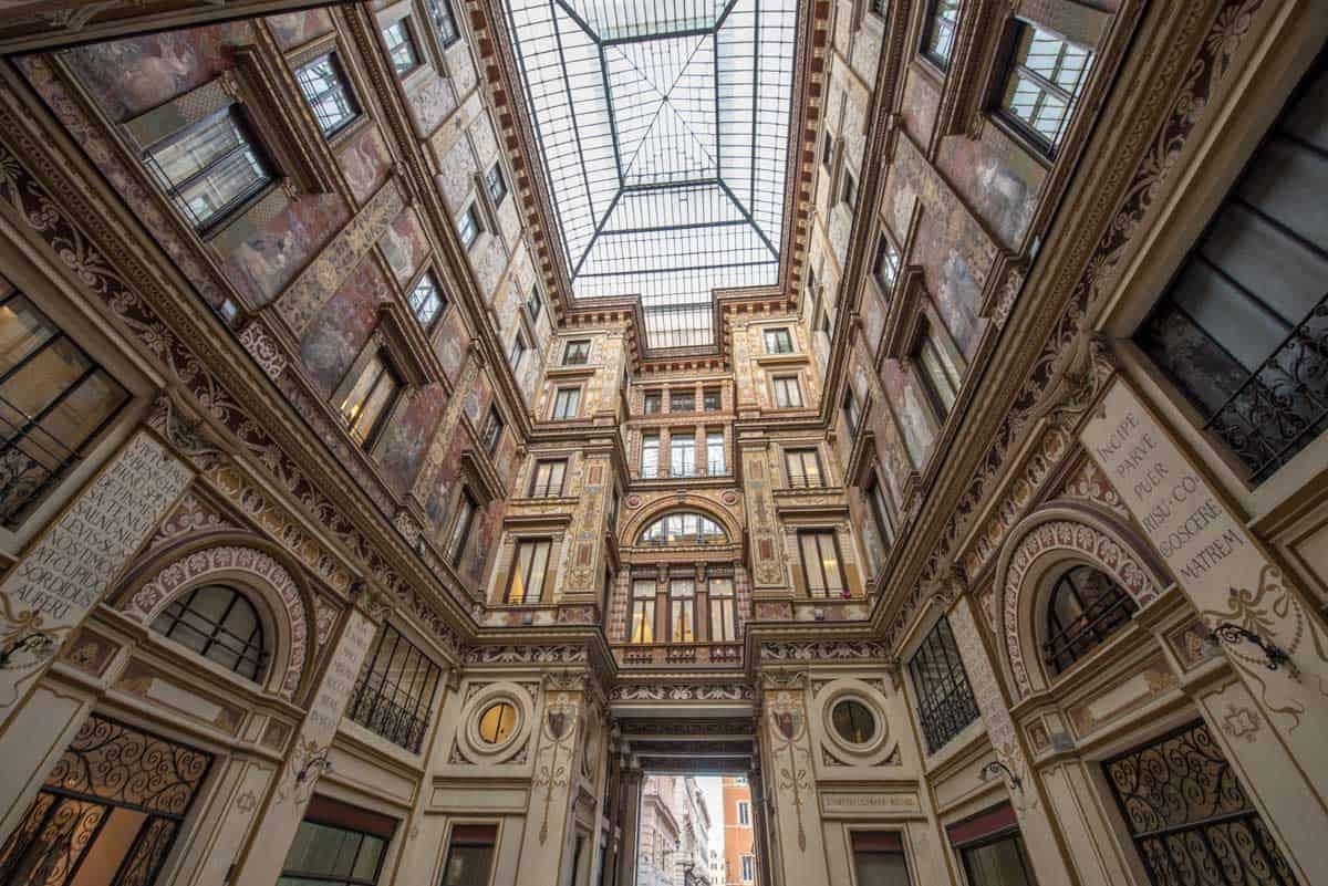 Galleria Sciarra Art Nouveau building in Rome.