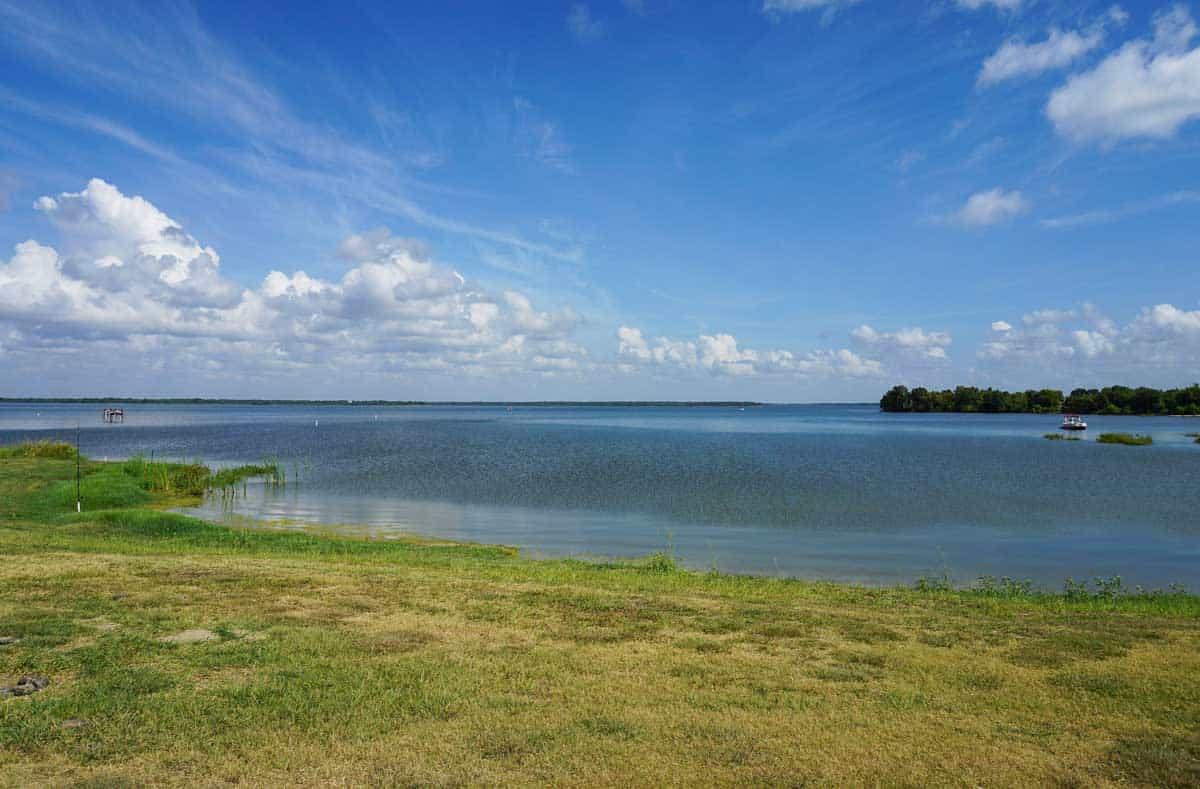 The shores of Lake Tawakoni in Texas.