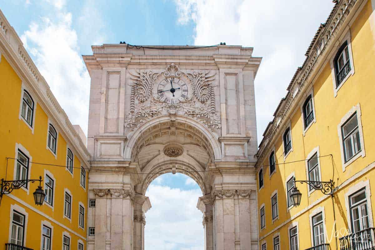 The triumph arch in Lisbon Portugal.
