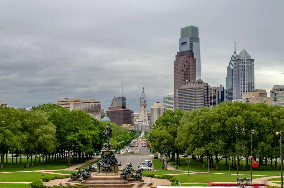 Philadelphia Skyline during the day.