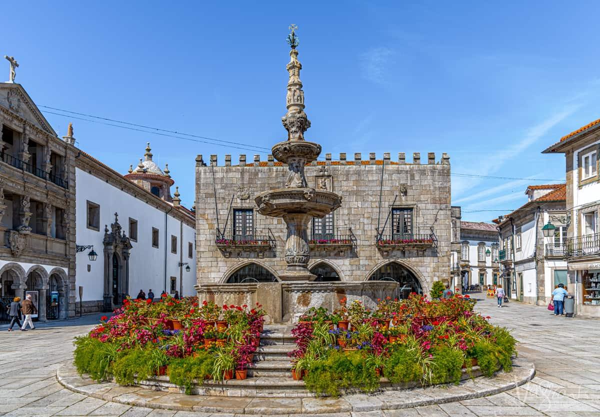Historic fountain in Viana do Castelo Portugal.