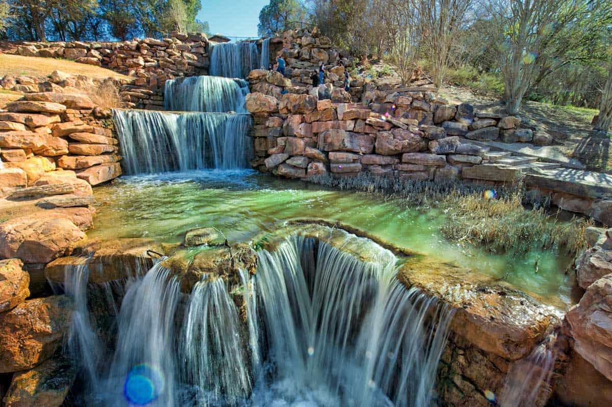 The waterfalls in Wichita Falls Texas.