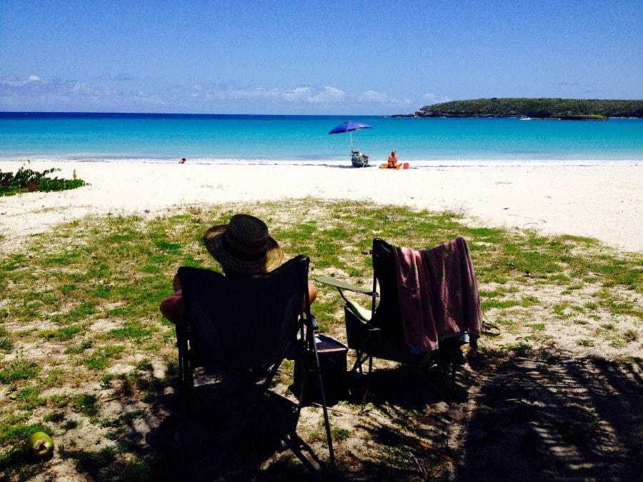 Playa caracus, Red beach Vieques Island