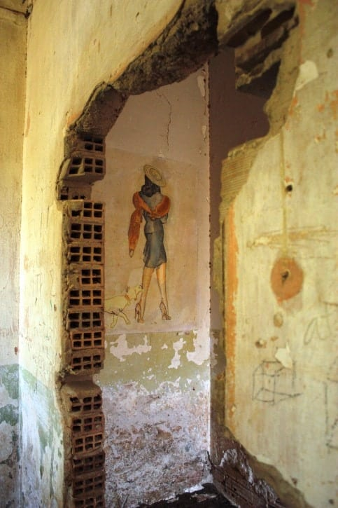 Italian Frescoes Leros Island, Greece