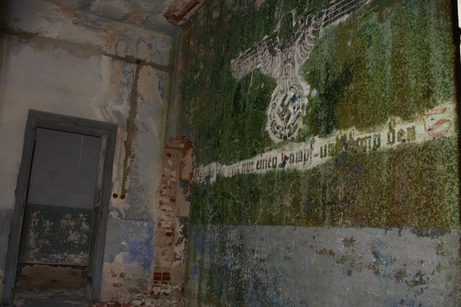 Abandoned Nazi radio building Leros Island Greece