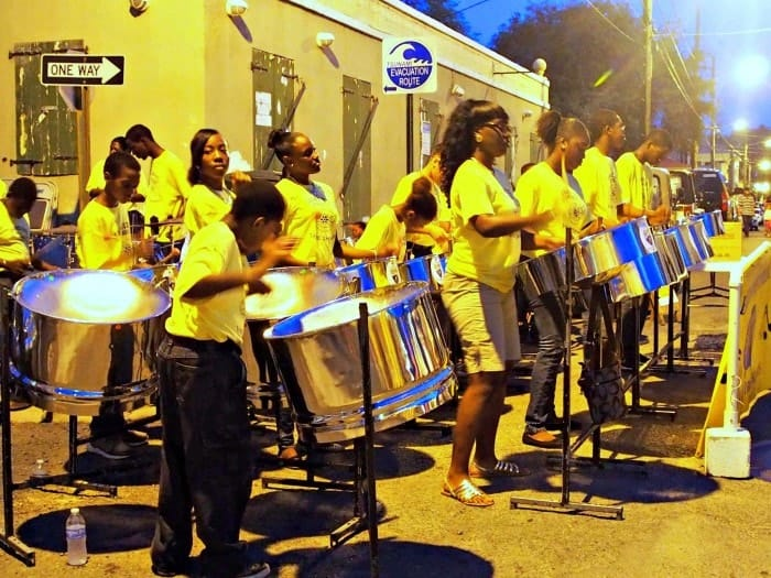 Steel drum bands. Jump Up Festival. St Croix